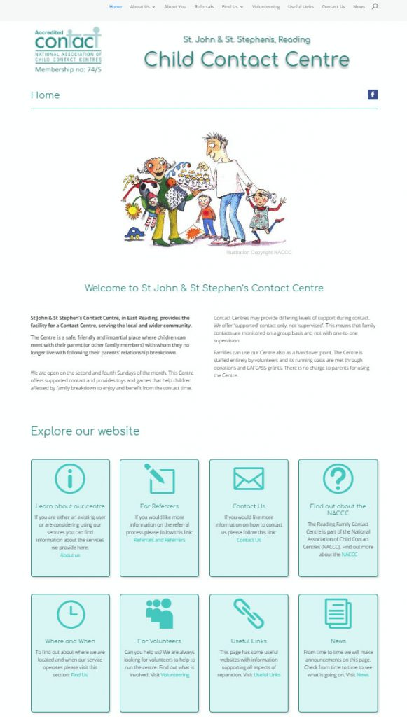 Reading Child Contact Centre website. Click on the image to visit the site.
